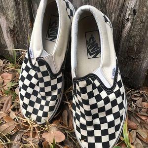 Classic Checkered Slip On Vans